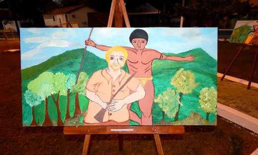 As telas estampam a cultura e contam parte da história do município