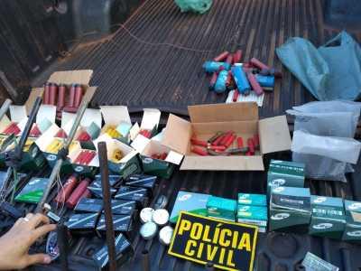 Centenas de munições foram apreendidas pela Polícia Civil no interior do Estado