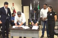 Seciju assina convênio para implantação da fábrica de blocos de concreto na Cadeia de Formoso do Araguaia