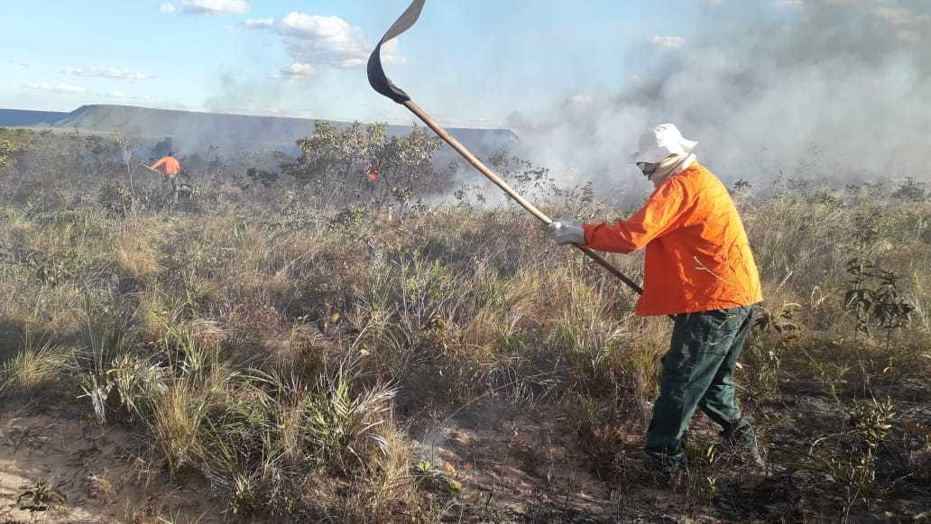 FOTO 01 - Simulação de incêndio florestal para treinamento de brigadistas na APA e Parque do Jalapão no combate ao fogo com uso de EPI.jpeg