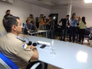 Em coletiva de imprensa, coronel Leandro fala dos resultados das ações no trimestre