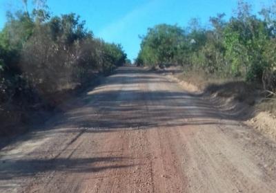 Rodovia não pavimentada TO-164, de Pequizeiro a Tarumã, com 60 km, dos quais já estão com 25 km prontos.