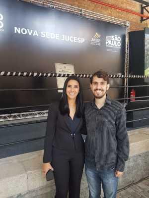 Servidores Rosângela Pinheiro e Philipe Ramos representam Jucetins em São Paulo