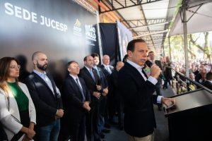 Governador de São Paulo, João Dória, inaugura nova sede da Jucesp