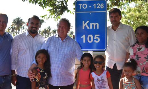 Mauro Carlesse destacou que esse trecho rodoviário, a exemplo de outras obras em todo o Estado, visa proporcionar melhor condições de vida à população