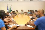 Reunião com as federações esportivas do Estado para troca de ideias sobre a realização dos jogos estudantis