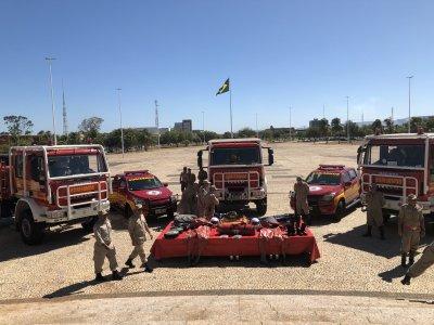 Veículos e equipamentos devem reforçar ações de combate aos focos de incêndio do Corpo de Bombeiros