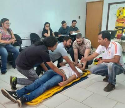 Os cursos ocorreram por meio de parceria entre a gerência da Escola e o Serviço de Atendimento Móvel de Urgência