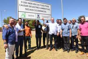 Governador Carlesse acompanhado de autoridades inaugurou o circuito de sinalização