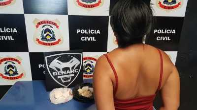 Mulher de preso na CPP de Palmas é presa por tráfico de drogas na Capital
