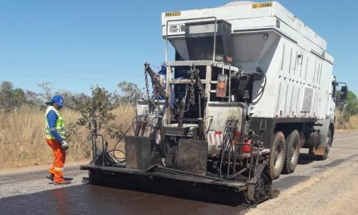Procedimento faz parte do processo de reabilitação da rodovia por meio do Crema