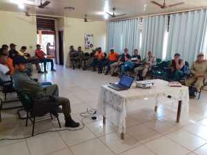 O encontro aconteceu no Centro de Capacitação e Educação Ambiental do PEJ