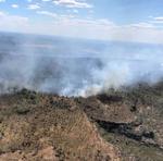 Combate às chamas na serra, no município de Lajeado