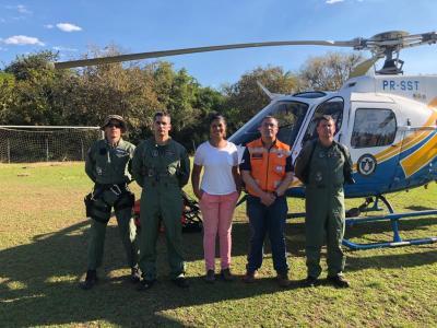 Equipe do Ciopaer juntamente com a secretária do Meio Ambiente de Lajeado