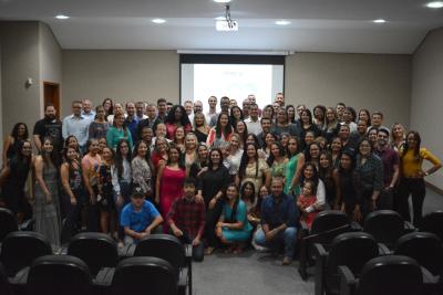 Servidores do Igeprev-TO, no auditório da sede em Palmas.