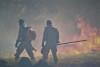 Bombeiros militares atuam no combate ao Fogo na Serra do Lajeado