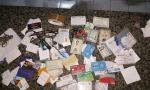 Documentos pessoais e cartões de banco recuperados com o suspeito