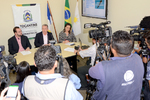 Coletiva foi realizada na sede da Secad em Palmas