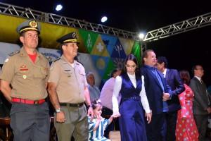 O coronel Leandro (E), participou da solenidade em comemoração aos 10 anos do CPM