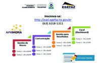 Inscrições  direto na plataforma http://ead.egefaz.to.gov.br