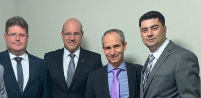 Da esq.para direita: Haroldo Rastoldo, Sérgio do Vale, Nivair Borges e Bruno Nolasco