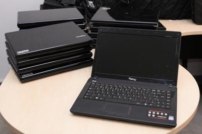 Notebooks doados pelo MPE à CGE
