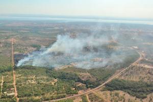Região entre a cidade e a Serra do Lajeado apresenta diversos focos de incêndios florestais