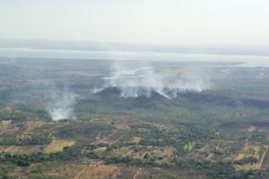 Serra do Lajeado com vários pontos com incêndios florestais