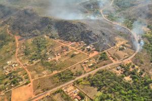 Chamas voltam a atingir região na entrada de Taquaruçu
