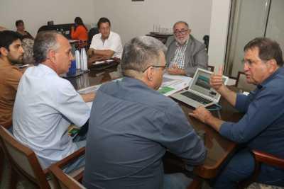 Secretário César Halum (E/p/D)), Fagundes Cunha e governador Carlesse