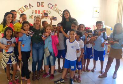 Crianças e adolescente da rede pública municipal e estadual participaram das palestras de educação ambiental