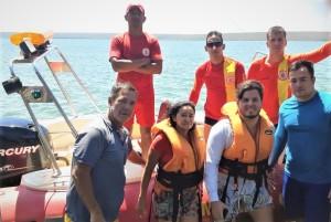 Vítimas do naufrágio foram resgatadas pelo Corpo de Bombeiros Militar