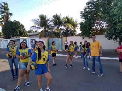 Os estudantes do Colégio Estadual Cândido Figueira abordaram o esporte como estratégia de aprendizagem, valores e importância dos estudos