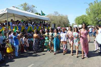 Cultura e povos foram representados pelo Colégio Sagrado Coração de Jesus, com a temática 'Brasil de Muitas Faces'