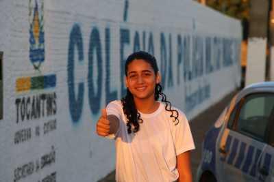 A estudante Karina Monteiro falou das mudanças que já ocorreram na escola