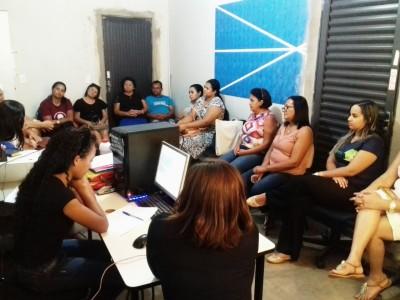 Reunião com a equipe técnica no município de Rio Sono