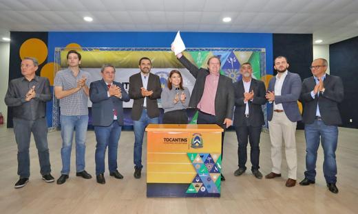 O novo auditório foi entregue pelo Governador Mauro Cerlesse e pela Secretária da Seduca, Adriana Aguiar nesta terça-feira, 10, em Palmas