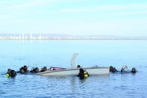 Bombeiros militares praticam mergulho autônomo nas águas do Lago de Palmas