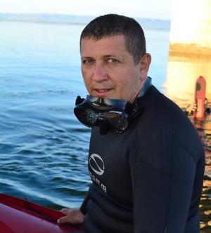 Major Jairon Domingues, instrutor da turma de mergulho autônomo