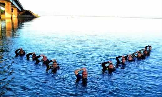 Curso de mergulho forma novos profissionais para atuação no Corpo de Bombeiros Militar