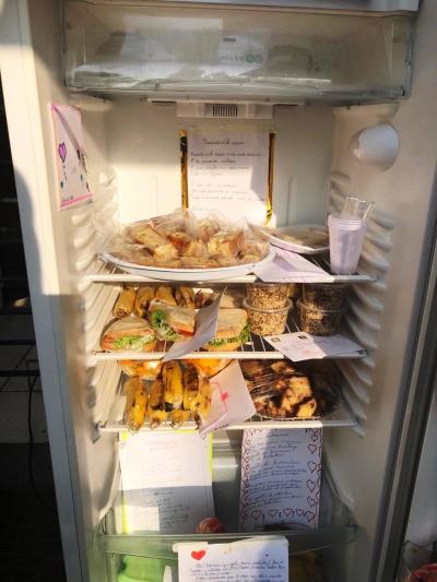 Qualquer pessoa poderá doar ou consumir os produtos da geladeira