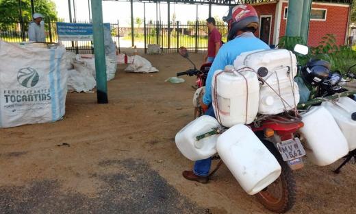 Paraiso do Tocantins e Divinópolis recebem edição do projeto de recebimento itinerante de embalagens vazias de agrotóxicos