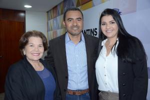 Vice-presidente da Fenaju, Alzenir Porto, vice-governador Wanderlei Barbosa e presidente da Jucetins, Thais Coelho