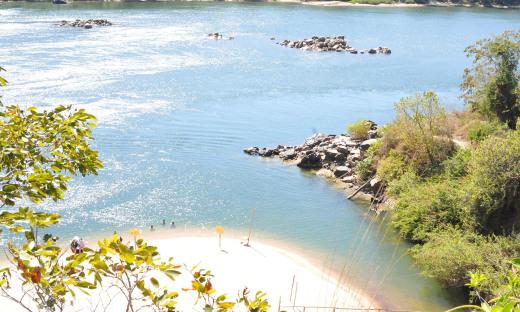Praia do Paredão, em Miracema, que este ano passou a integrar o polo turístico Serras e Lago