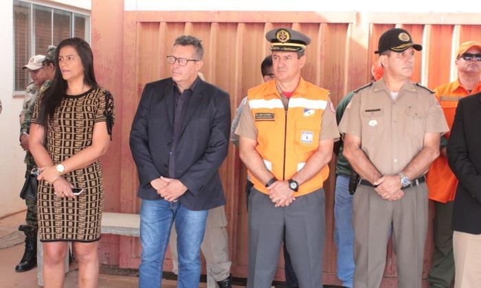 Coronel Leandro (colete) destacou a participação de parceiros na Força Tarefa de Fiscalização