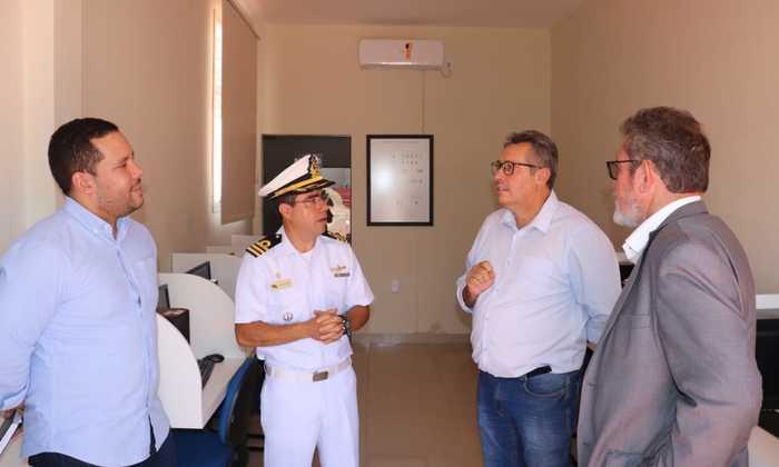 Presidente e vice do Naturatins são recebidos na Marinha