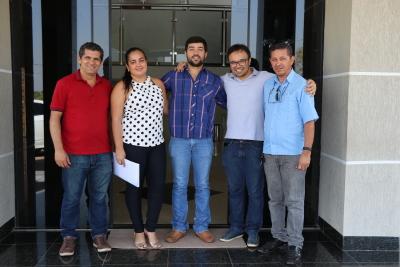 Equipe da ATS durante visita a prefeitura de Monte Santo para alinhamento da programação