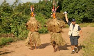 Parte viva da tradição Karajá, os Aruanãs vão dançar na abertura