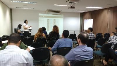 Equipe da Corregedoria durante treinamento para o SAP