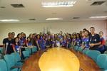 Secretária recebe estudantes destaques em Palmas